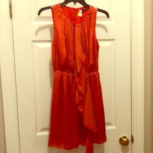 Anthropologie Theme  orange dress. Size Small. EUC
